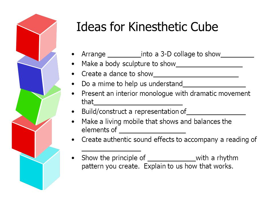 Ideas for Kinesthetic Cube