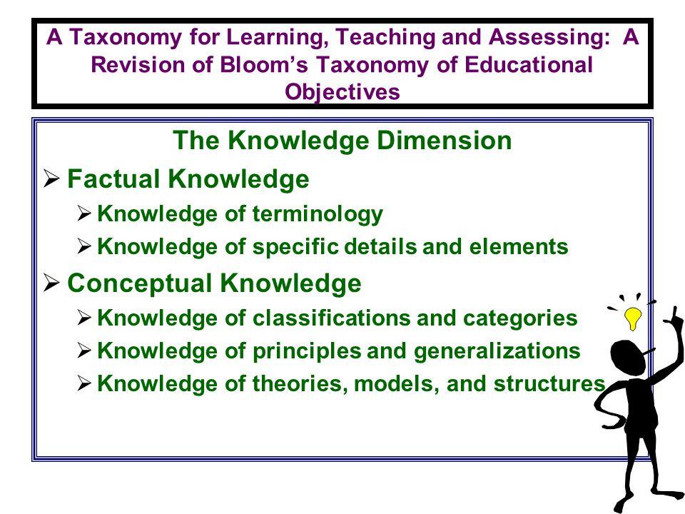 The Knowledge Dimension