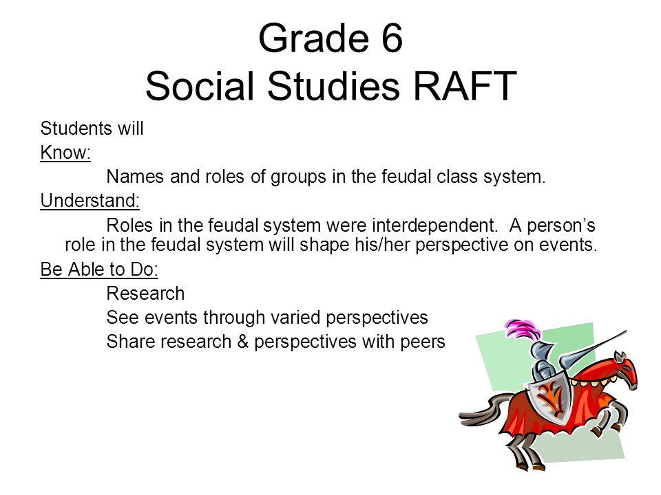 Grade 6 Social Studies RAFT