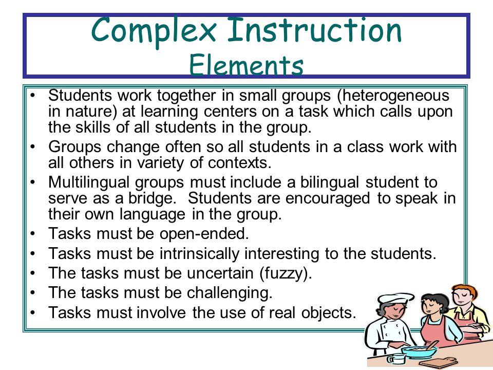 Complex Instruction Elements