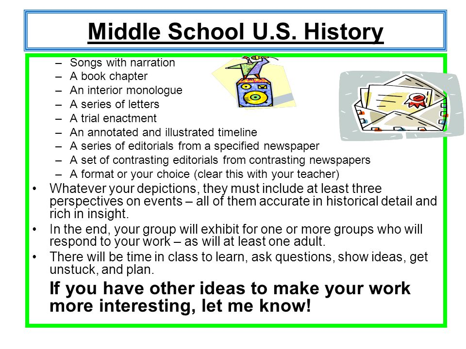 Middle School U.S. History