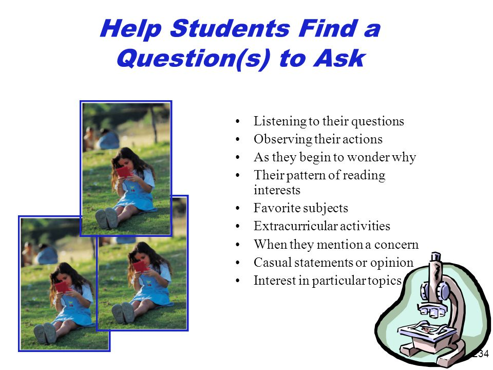 Help Students Find a Question(s) to Ask