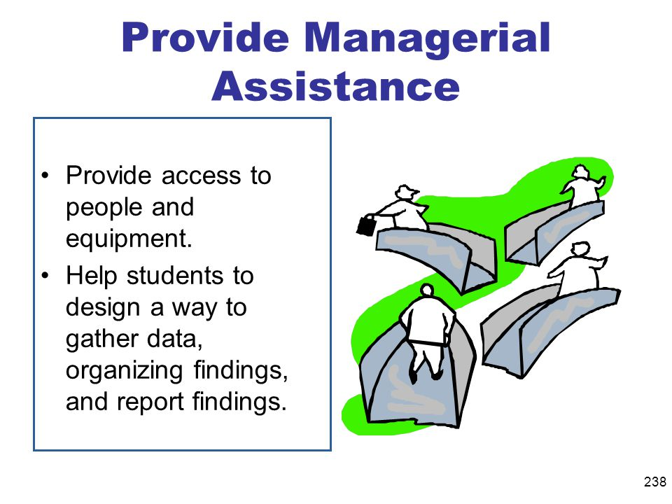 Provide Managerial Assistance