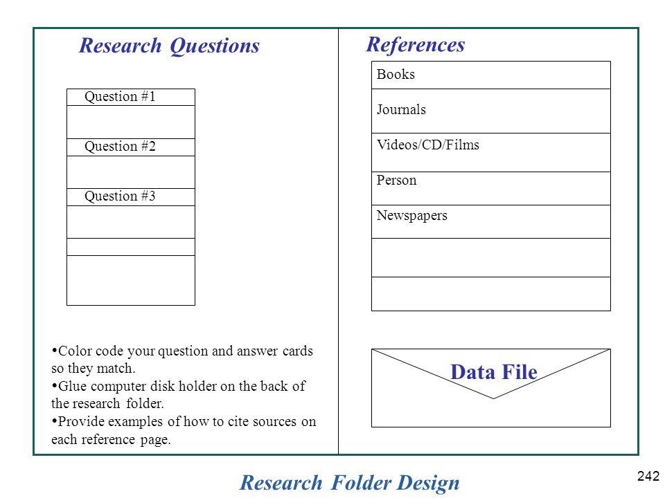 Research Folder Design