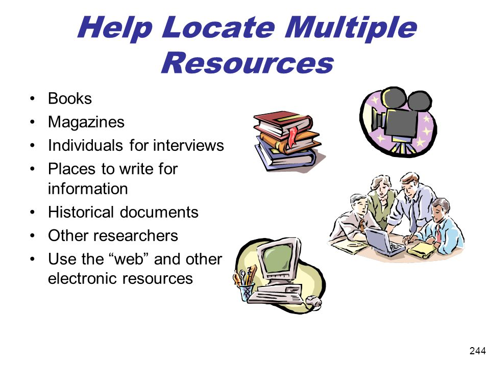 Help Locate Multiple Resources