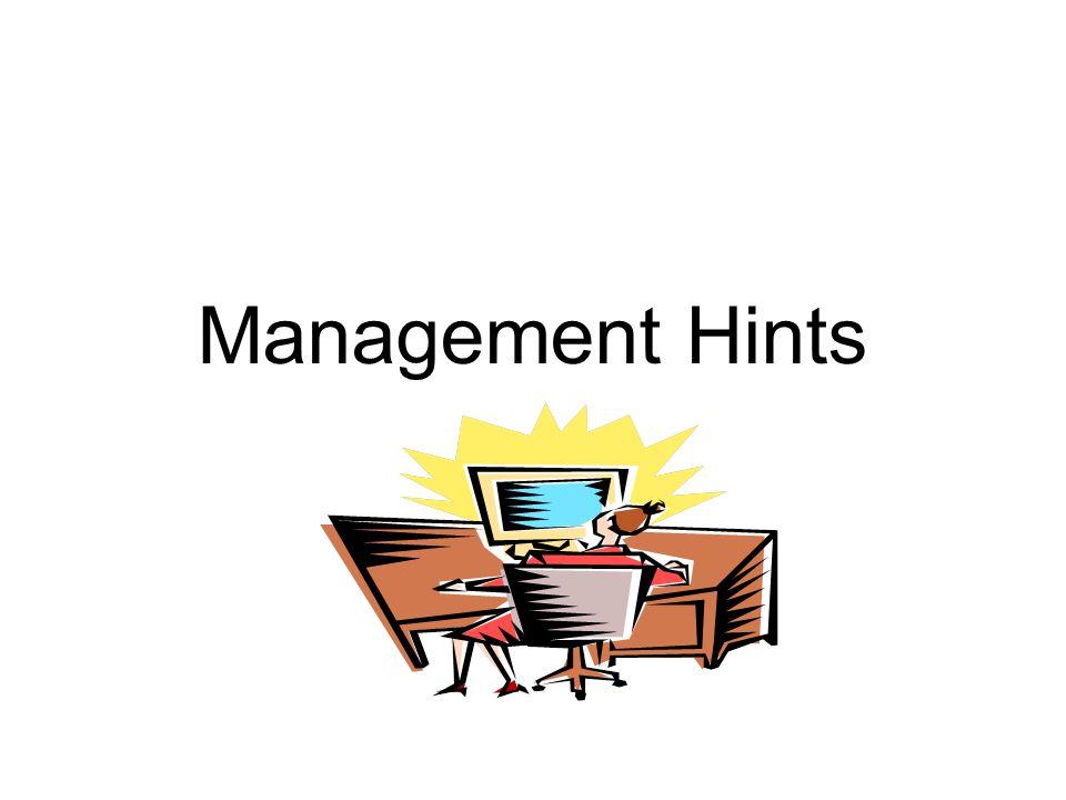 Management Hints