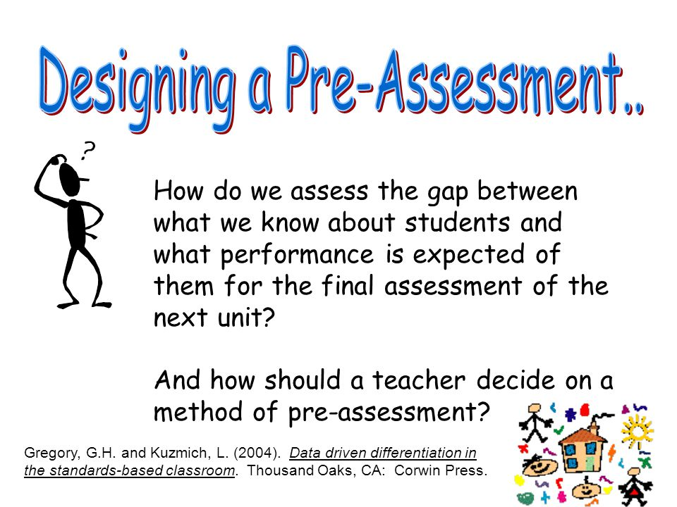 Designing a Pre-Assessment..