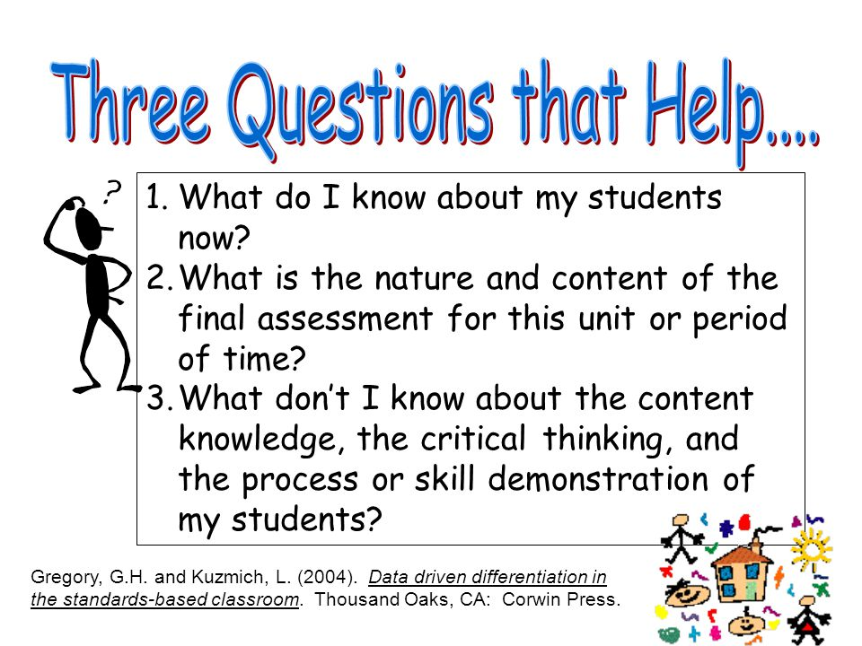 Three Questions that Help....