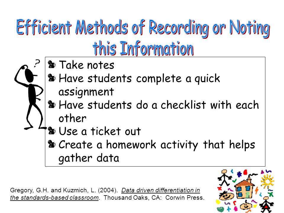 Efficient Methods of Recording or Noting