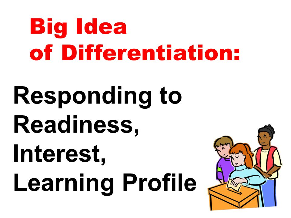Responding to Readiness, Interest, Learning Profile Big Idea