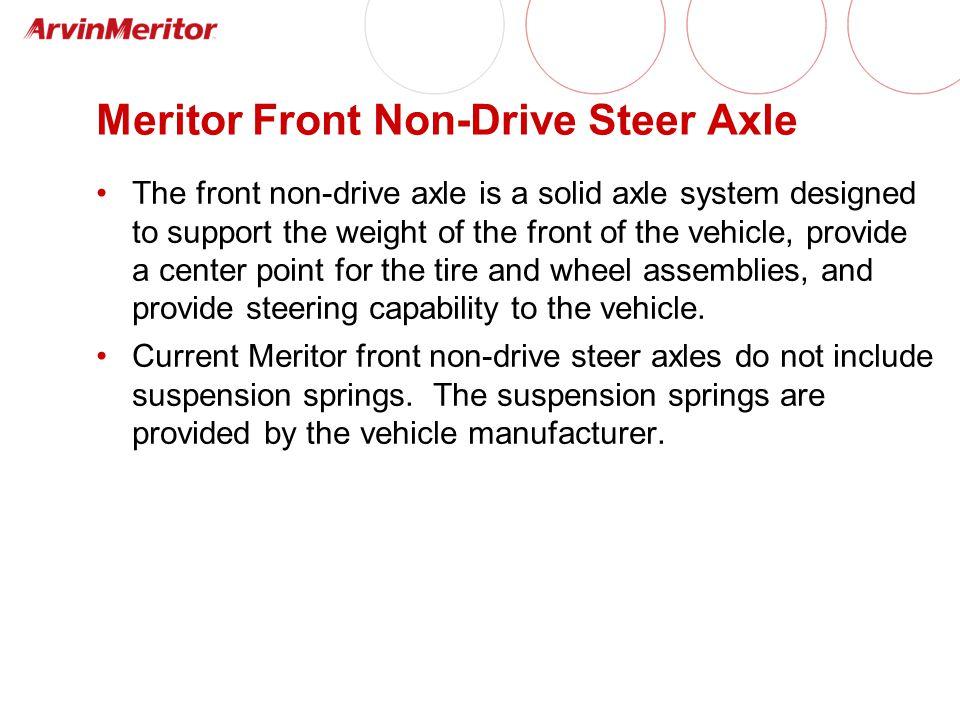 Meritor Front Non-Drive Steer Axle