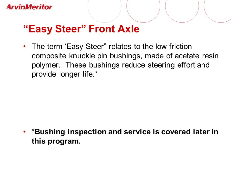 Easy Steer Front Axle