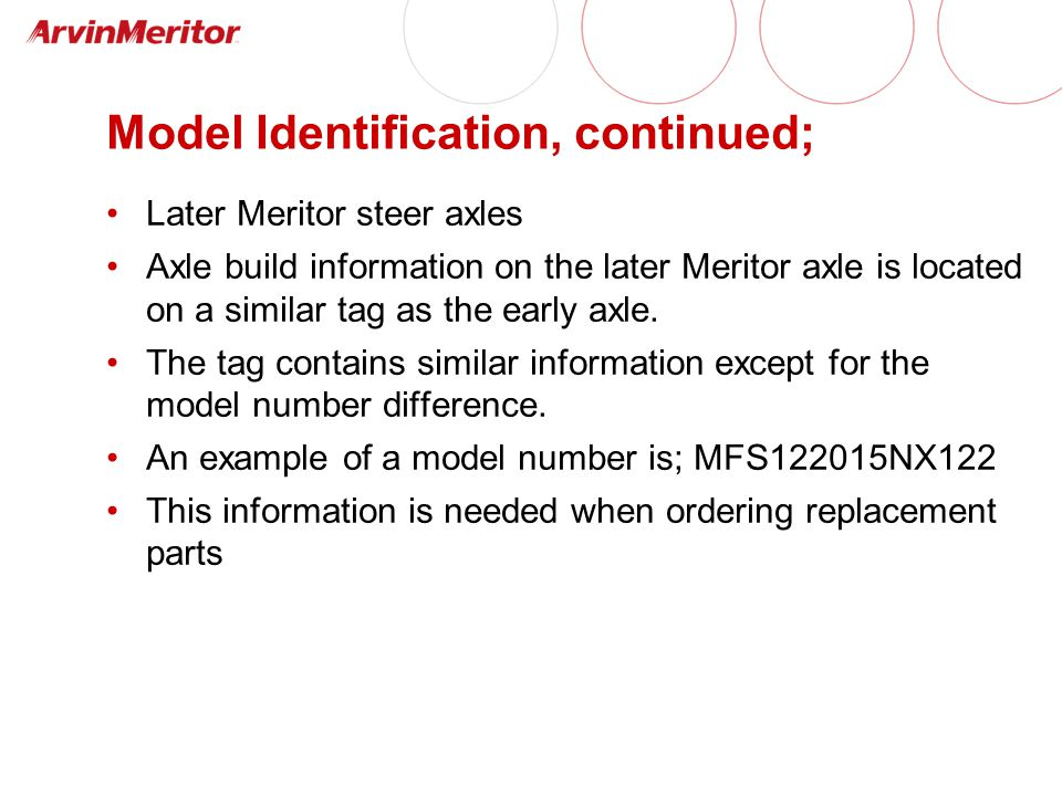 Model Identification, continued;