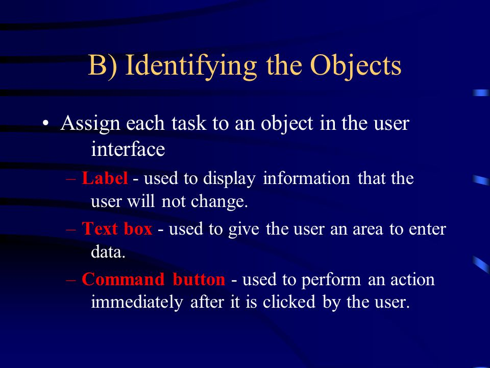 B) Identifying the Objects