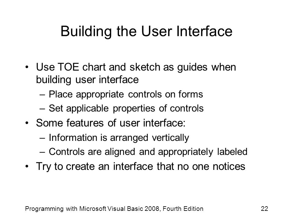 Building the User Interface