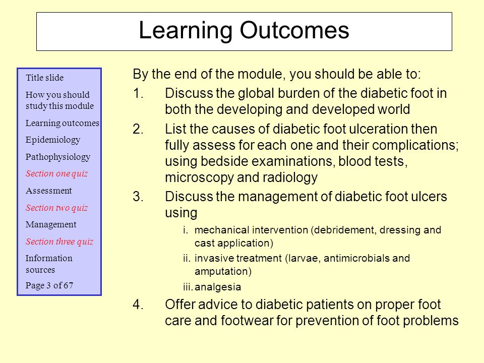 Learning Outcomes By the end of the module, you should be able to: