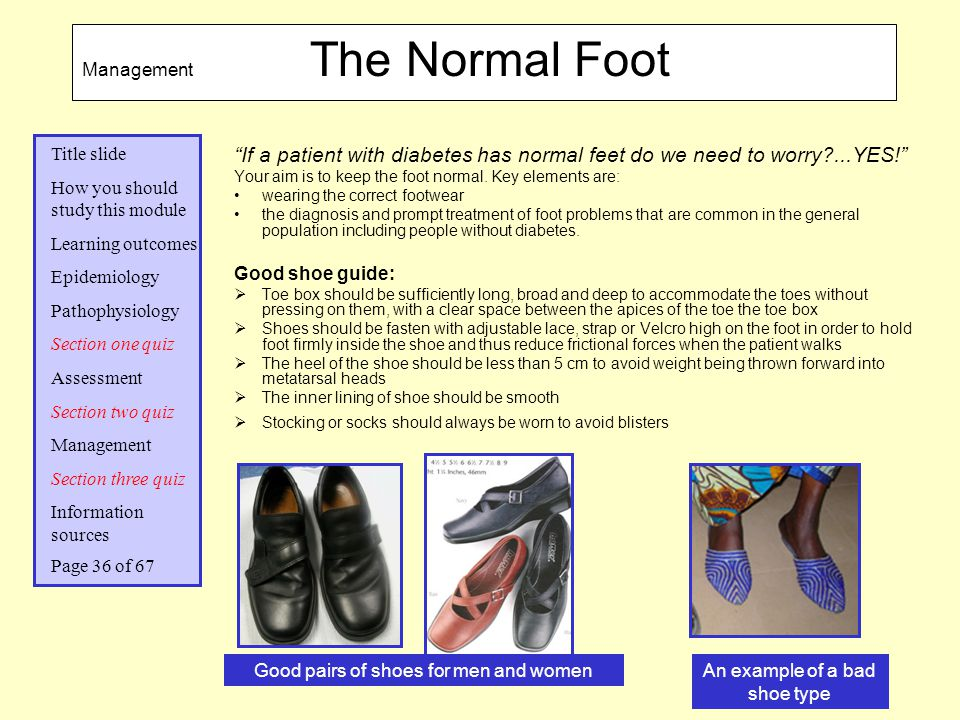Management The Normal Foot