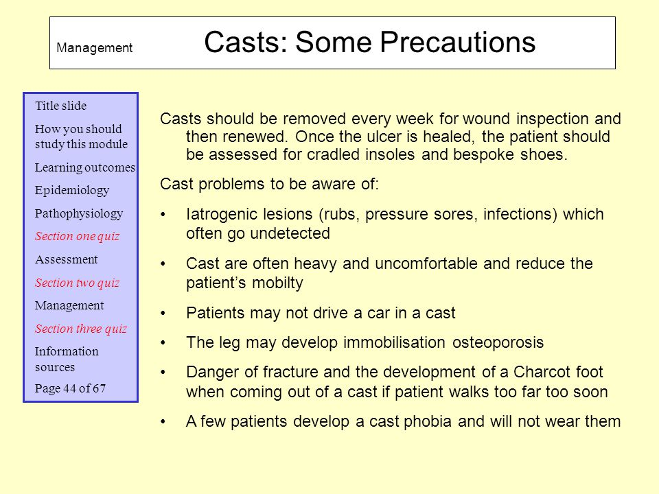 Cast problems to be aware of: