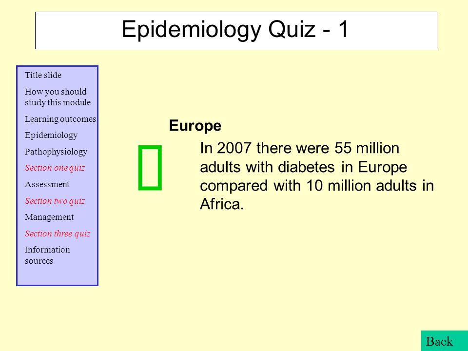 ü Epidemiology Quiz - 1 Europe