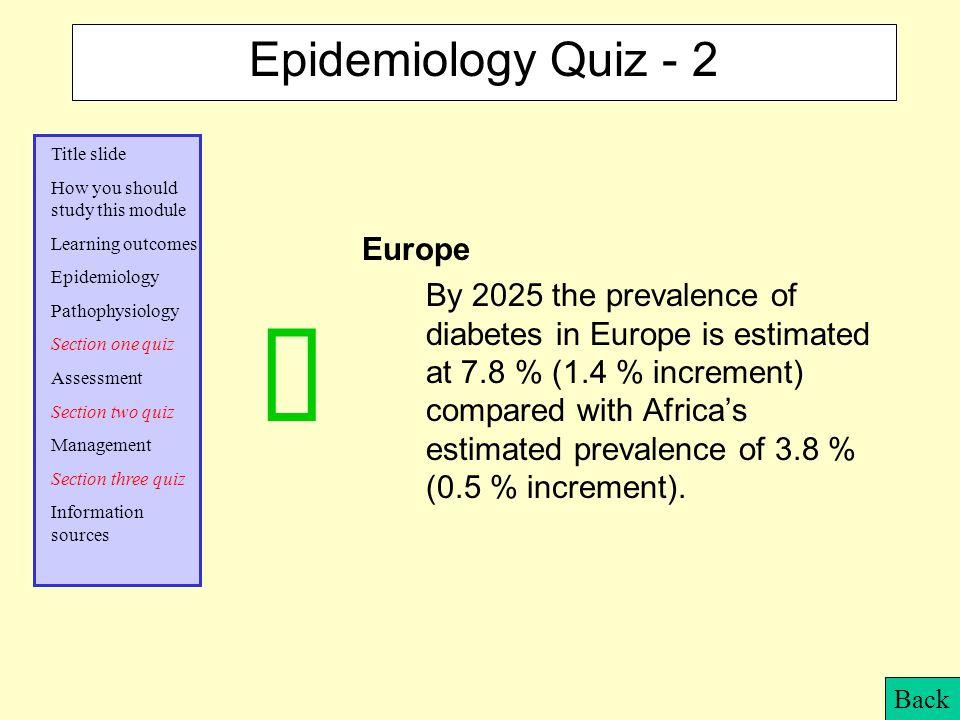 ü Epidemiology Quiz - 2 Europe