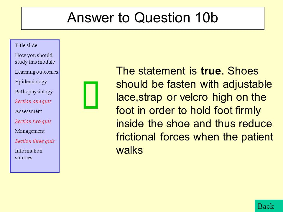 Answer to Question 10b