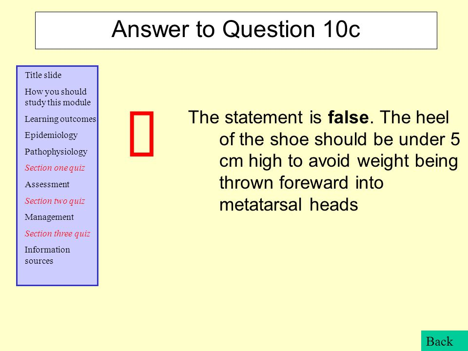Answer to Question 10c