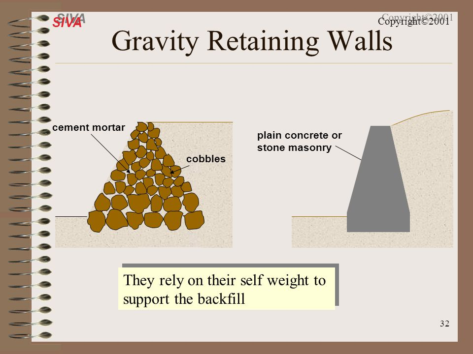 Gravity Retaining Walls