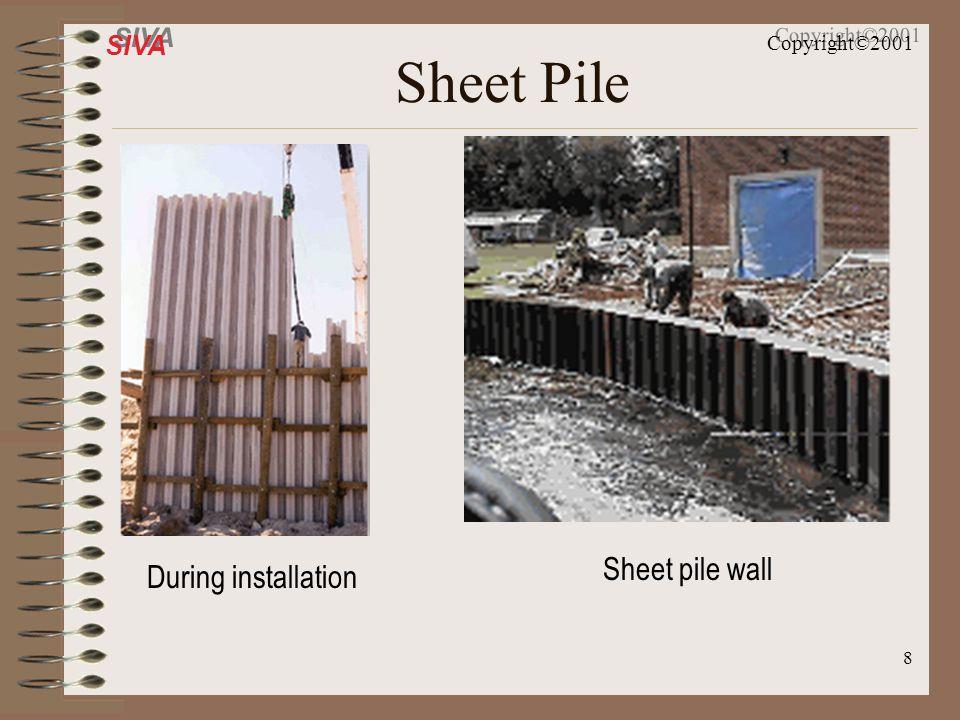 Sheet Pile Sheet pile wall During installation