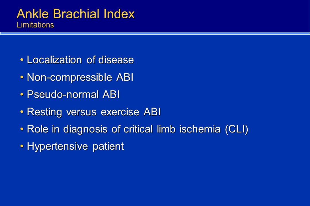 Ankle Brachial Index Limitations