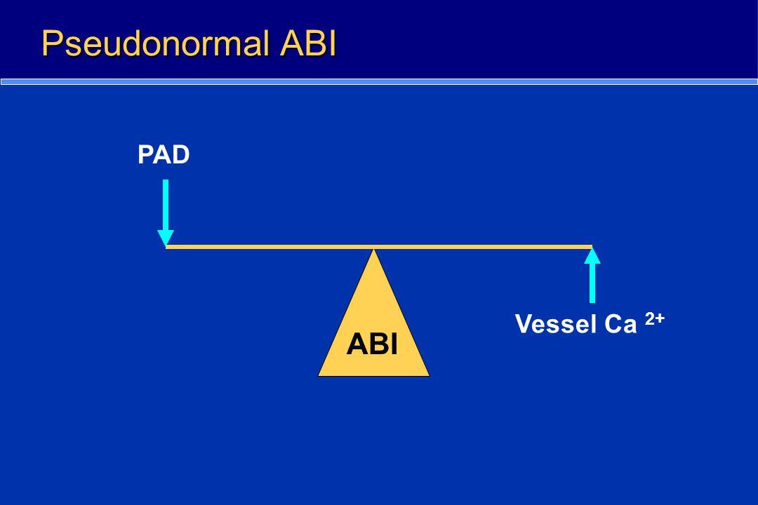 Pseudonormal ABI PAD Vessel Ca 2+ ABI