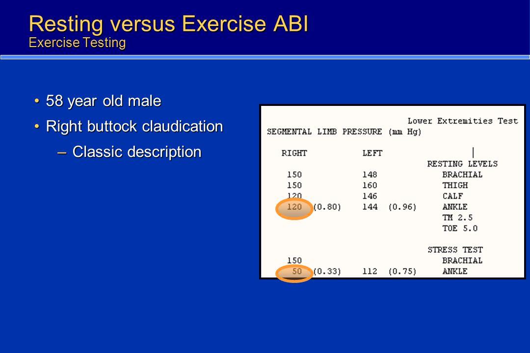 Resting versus Exercise ABI Exercise Testing