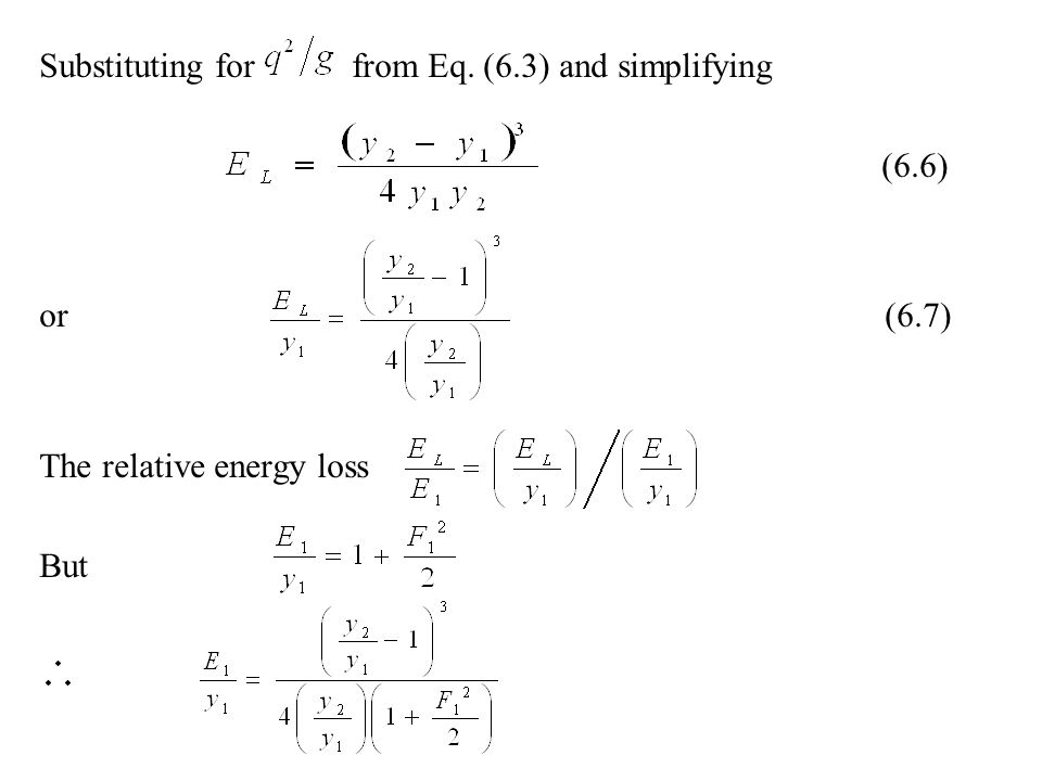 Substituting for from Eq. (6.3) and simplifying