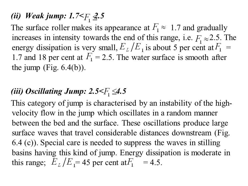 (ii) Weak jump: 1.7< 2.5