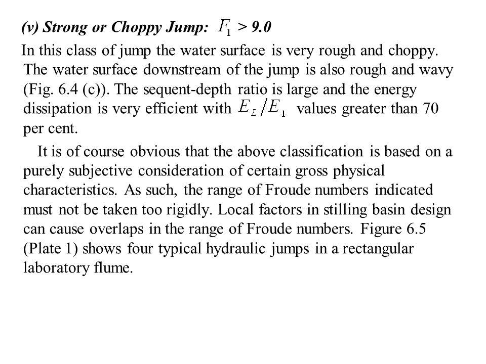 (v) Strong or Choppy Jump: > 9.0