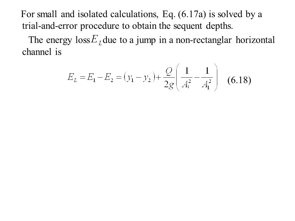 For small and isolated calculations, Eq. (6
