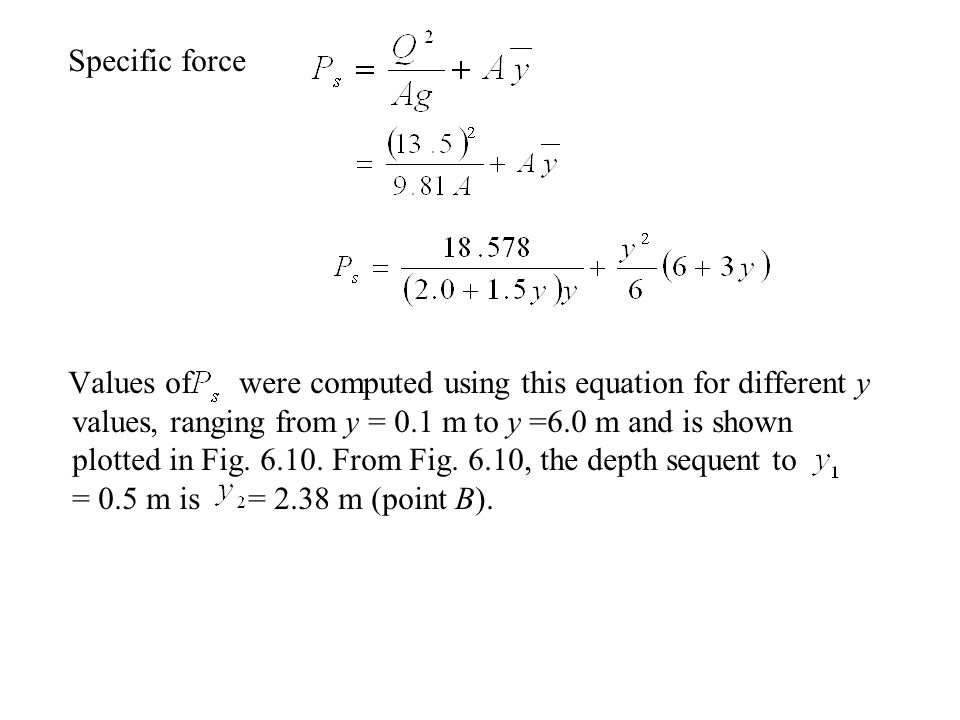 Specific force