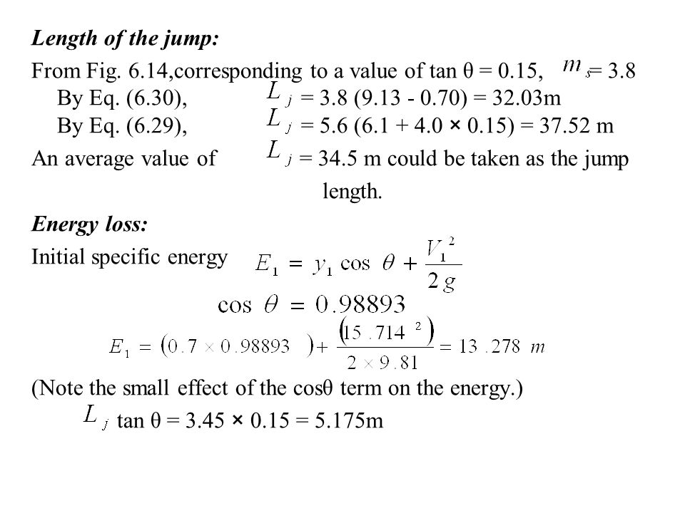 Length of the jump: