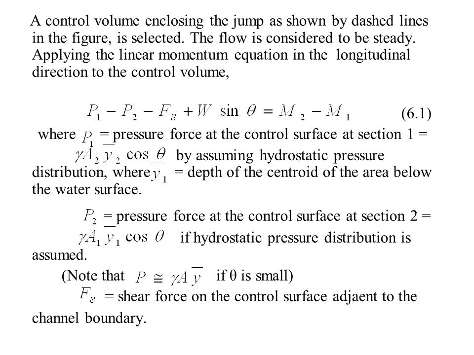 = pressure force at the control surface at section 2 =