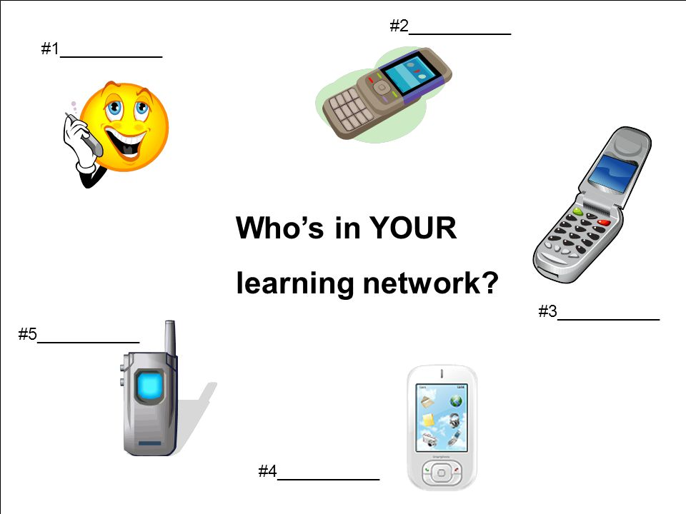 Who's in YOUR learning network #2___________ #1___________