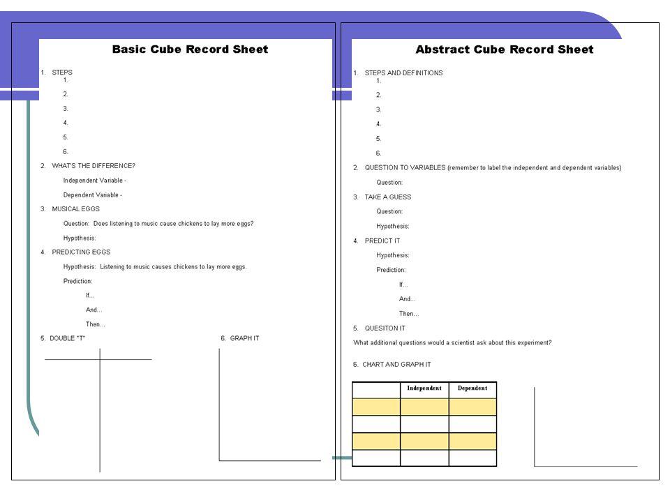Basic Cube Record Sheet