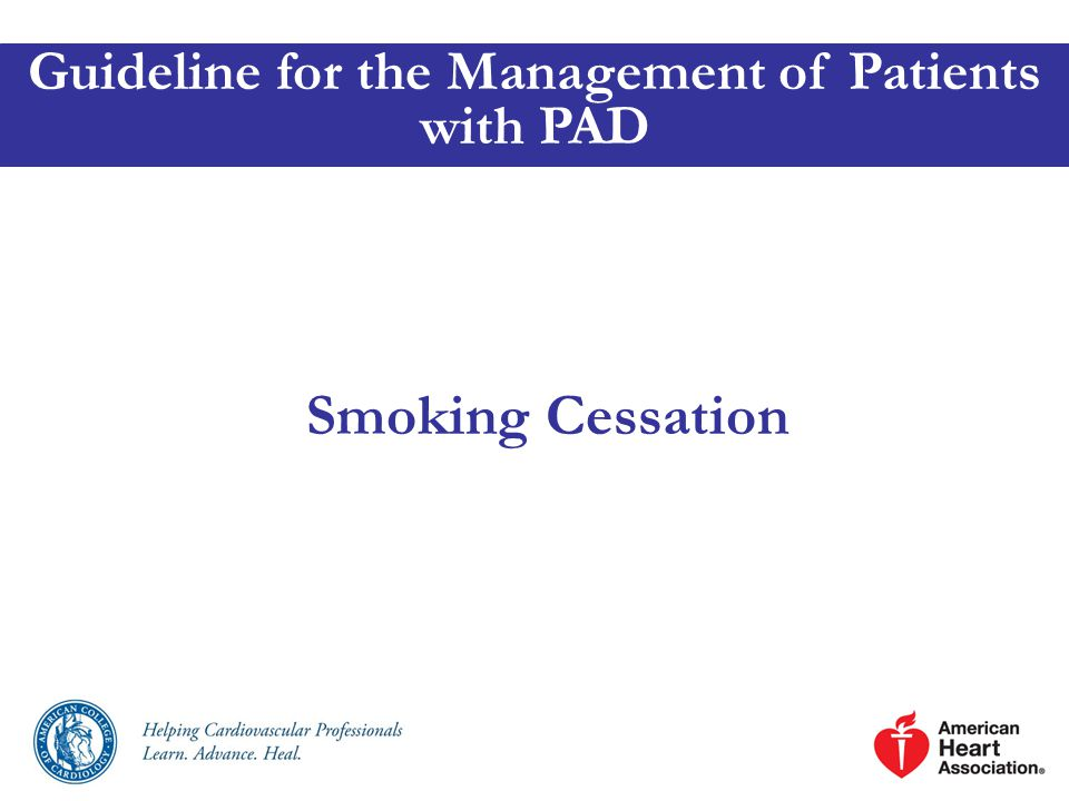 Guideline for the Management of Patients with PAD