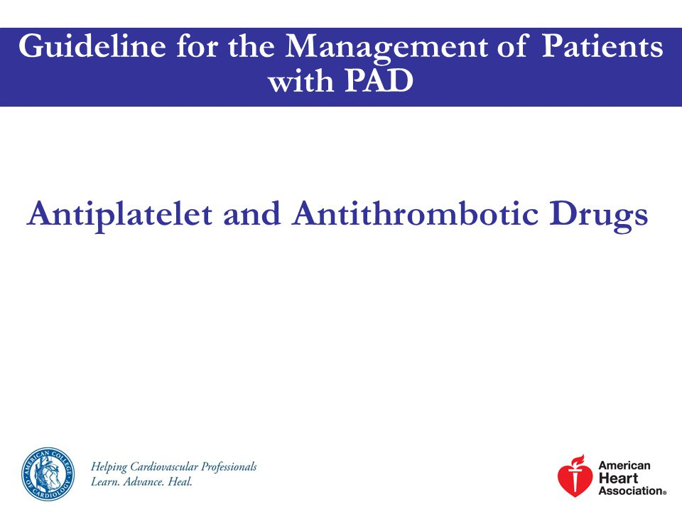 Antiplatelet and Antithrombotic Drugs