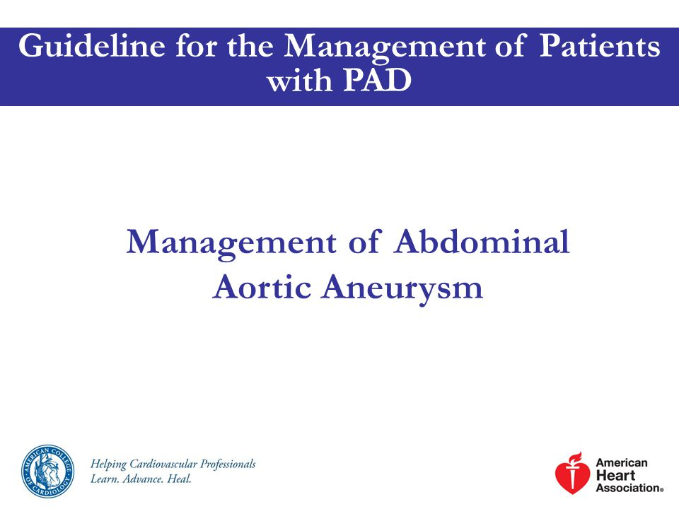 Management of Abdominal Aortic Aneurysm