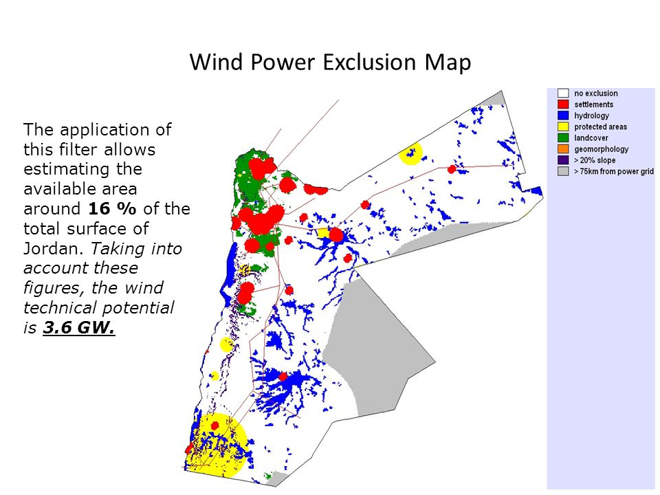 Wind Power Exclusion Map