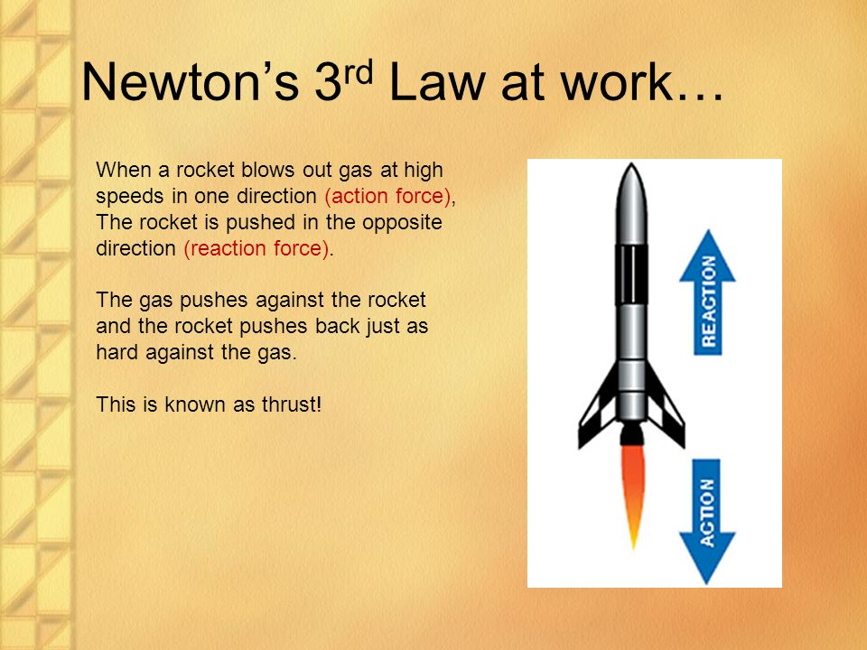 Newton's 3rd Law at work…