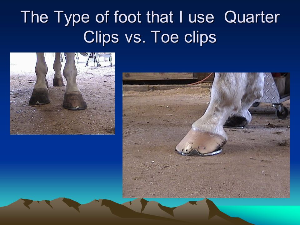 The Type of foot that I use Quarter Clips vs. Toe clips