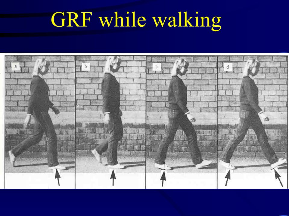 GRF while walking