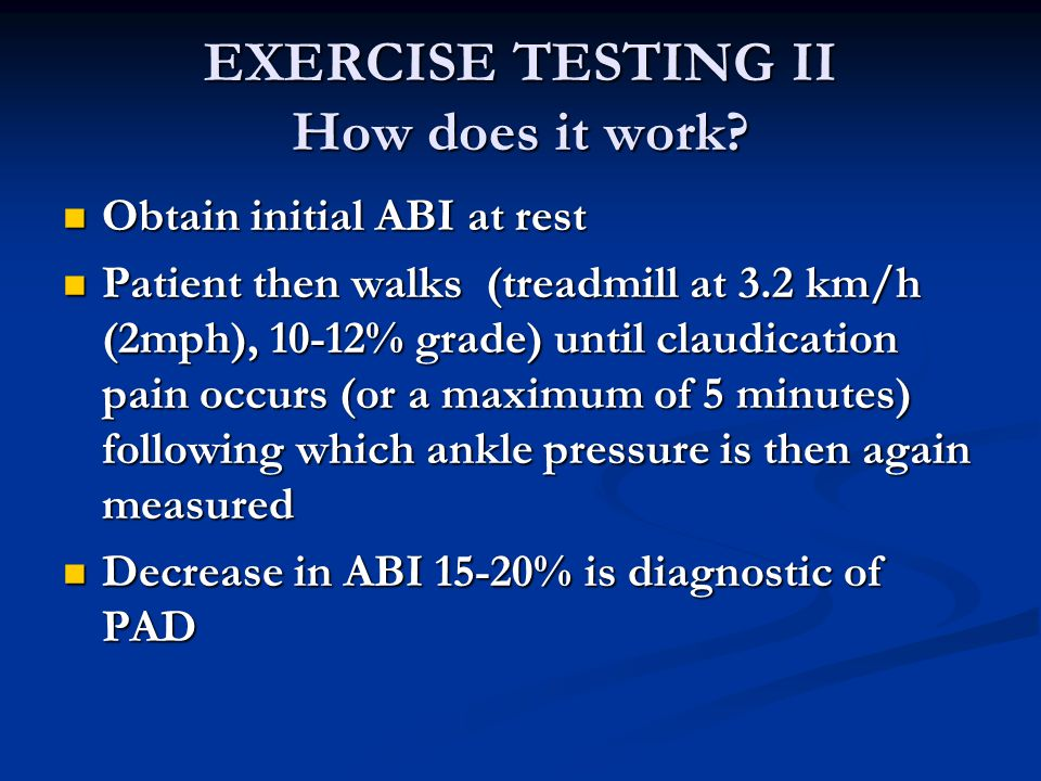 EXERCISE TESTING II How does it work