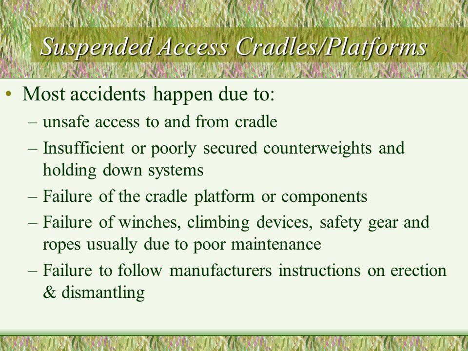 Suspended Access Cradles/Platforms