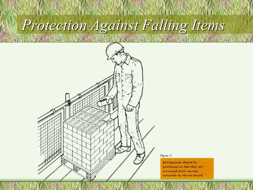 Protection Against Falling Items